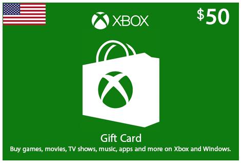 $50 Xbox eCodes