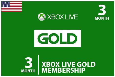 Xbox 3 MontheCodes