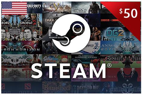 $50.00 Steam eCodes