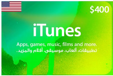 US iTunes 400 $