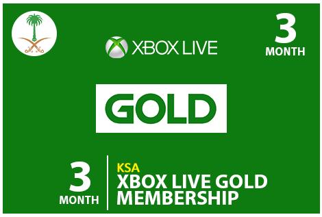 Xbox 3 Monthe KSA Codes