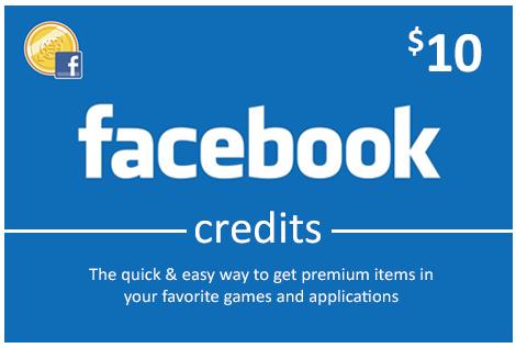 Facebook 10 USD