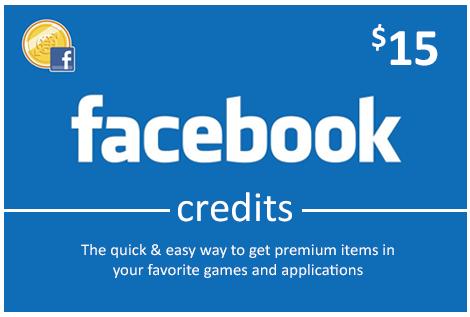 Facebook 15 USD