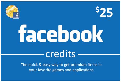 Facebook 25 USD