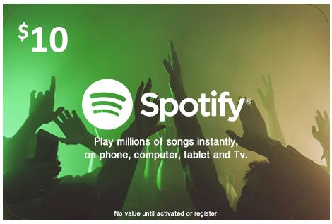 Spotify US 10$