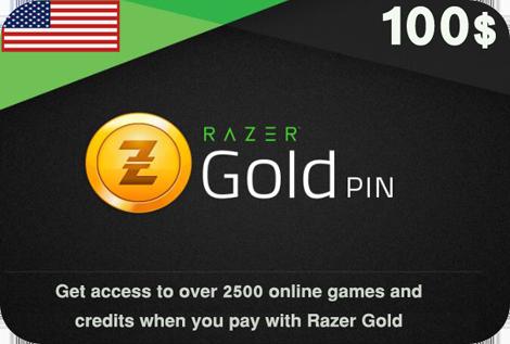 Razer Gold  100$ USA